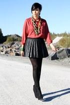 black leather skirt Primark skirt - black Primark boots