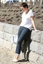 spotted Primark pants - H&M shirt - bag - roberta farc wedges