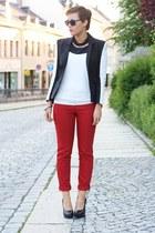 yest pants - H&M blazer - westrags shirt - Primark wedges