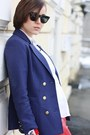 Navy-h-m-blazer-marc-b-bag-primark-blouse-red-leather-3-suisses-pants