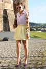 Brown-hallhuber-bag-deep-purple-primark-heels-light-yellow-primark-skirt