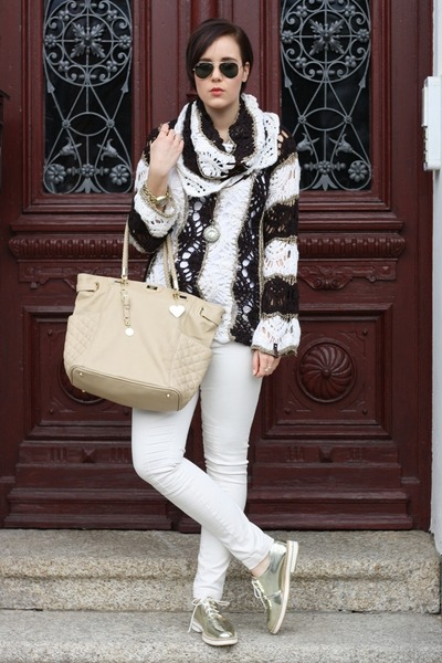 Miss Sixty sweater - Marc B bag - yest pants - Zara flats