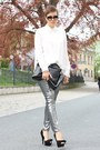 Black-vj-style-bag-silver-primark-pants-cream-romwe-blouse