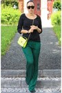 Black-vero-moda-shirt-light-yellow-neon-sammydress-bag-dark-green-zara-pants