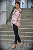 floral silk tunic