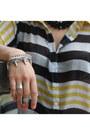 Stripes-blouse-primark-heels-jeane-blush-pants-spike-bracelet