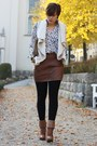 H-m-boots-clutch-hallhuber-bag-leather-h-m-skirt-fur-vest-orsay-vest