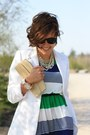 Navy-dress-white-h-m-blazer-cream-roberta-farc-wedges