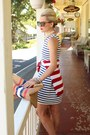 Zara-dress-zara-sweater-american-apparel-diy-purse-karen-walker-sunglasses