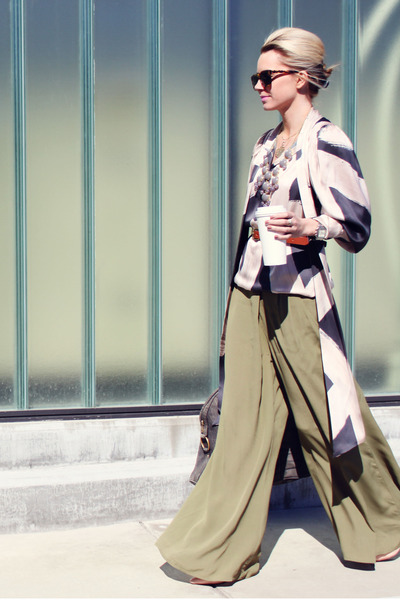 Stella McCartney blouse - YSL bag - Karen Walker sunglasses - asos pants
