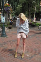 Elizabeth&James shoes - Old Navy shorts - Banana Republic Heritage blouse - Burb