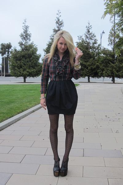 Ralph Lauren Collection blouse - H&M skirt - H&M stockings - Jessica Simpson sho