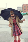 Hunter-boots-bb-dakota-dress-gap-jacket-karen-walker-sunglasses-banana-r