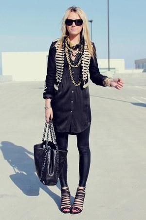 Theory dress - Stella McCartney for GapKids jacket - Chanel purse - loeffler ran