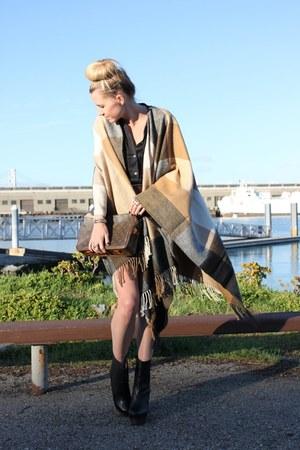 H&M coat - Vintage LV purse - Theory dress