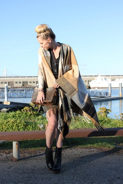 H&M coat - Vintage LV purse - Theory dress