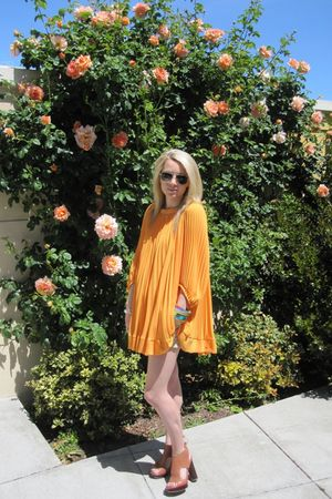 Randolph Engineering sunglasses - Pour La Victoire shoes - H&M dress