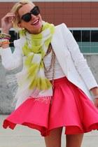Zara blazer - karen wlaker sunglasses - luluscom skirt