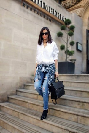 blue ripped jeans pull&bear jeans