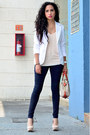 Navy-zara-jeans-white-bershka-blazer-carrot-orange-cach-bag