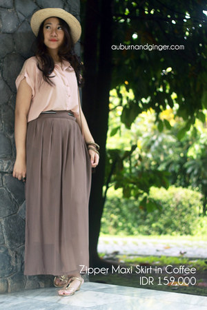 maxi skirt Auburn &amp; Ginger skirt - chiffon Auburn &amp; Ginger shirt