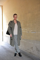 Zara top - weekday coat - Zara pants