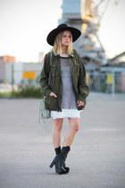 Chloe Sevigny for Opening Ceremony boots - Zara hat - 2nd Hand jacket