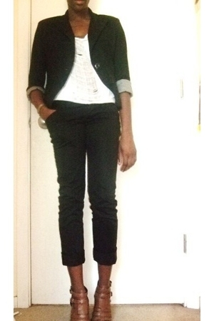 Forever21 blazer - DIY shirt - Old Navy pants - Nine West shoes
