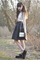ivory Motel Rocks top - black Chicwish skirt - black ebay sneakers