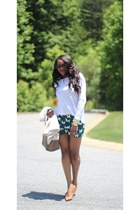 Celine bag - J Crew shorts - Prada sunglasses - Alexander Wang t-shirt