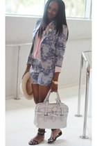 banana republic blazer - J Crew hat - J Crew shirt - banana republic shorts