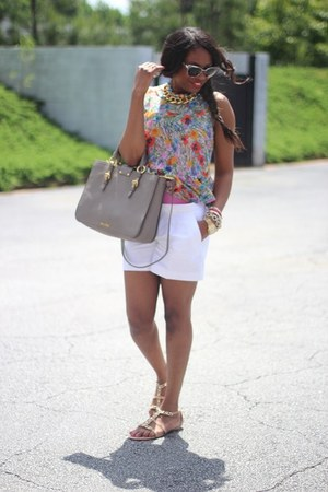 Topshop blouse - banana republic shorts