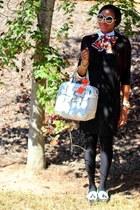 stuart weitzman shoes - H&M dress - Missoni scarf