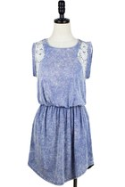 Lacey Dyed Denim Cotton Dress