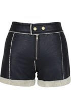 Patches of Love PU Leather Shorts