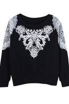 Tribal Craze Flocked Jumper (Black)