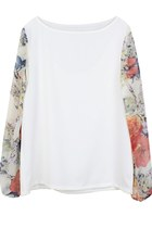 Love Floral Puffs Blouse
