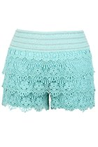 Floral Sea Crochet Shorts (Mint)