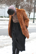 brick red mink coat coat