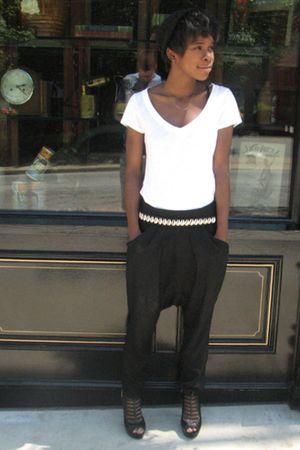 Zara pants - thrifted belt