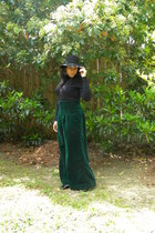 black floppy hat H&M hat - Gap sweater - dark green Me pants