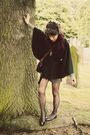 Cow-coat-portabello-market-tights-vintage-bag-thrifted-shorts-jumper