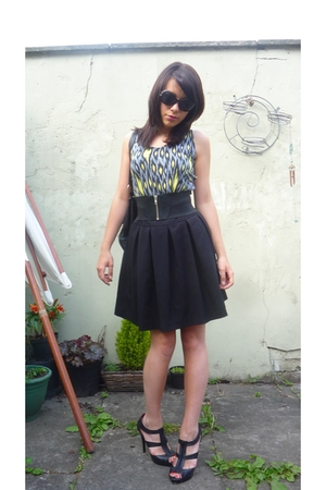 H&M skirt - Ebay shoes - Primark top