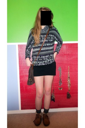 Nordstrom sweater - Forever 21 bag - Forever 21 blouse