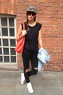 Red-red-bag-oasis-bag-black-customised-myself-jeans