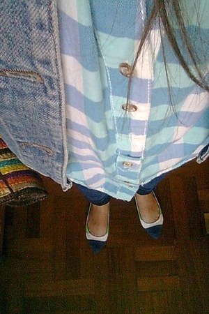 no brand bag - Zara jeans - united colors of benetton jacket - pull&bear shirt