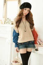 eggshell knit yarn sweater