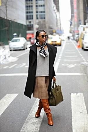 black vintage Adrienne Vitaddini scarf - tawny ora 31 Phillip Lim boots