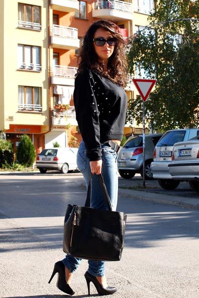 Romwecom bag - Premier shoes - Mango jeans - Romwecom sweater