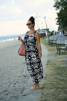 Parfois bag - AX Paris dress - Esprit sunglasses - Glamour Fashion wedges